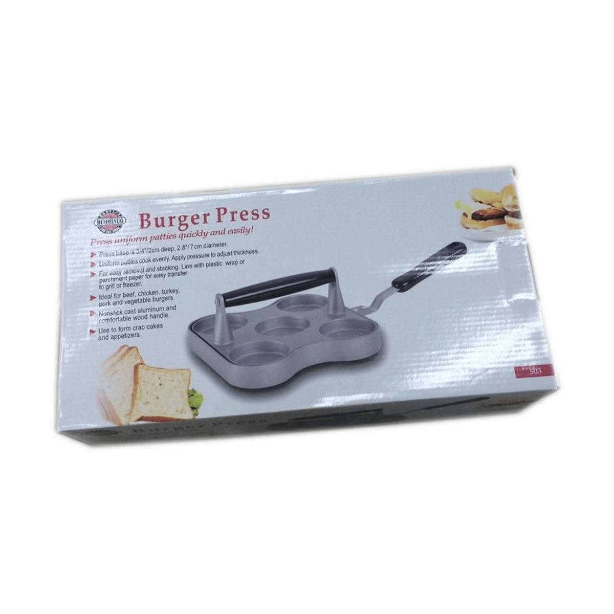 Aluminum Mini Burger Press, 5 Slot Cast - SquareDubai