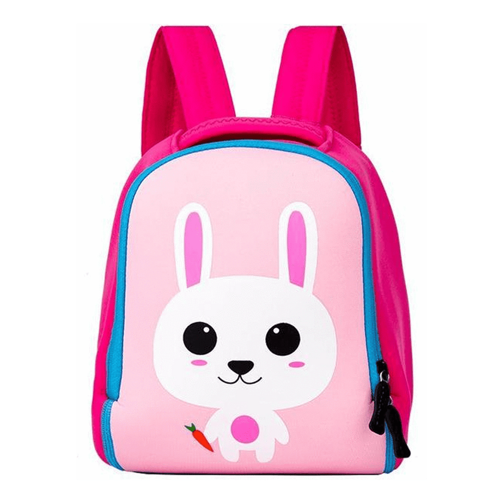 Pink Cute School Bag Kindergarten Backpack Animal Neoprene Multicolor