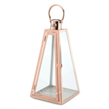 Stainless Steel Lantern with Ring Rose Gold Large
