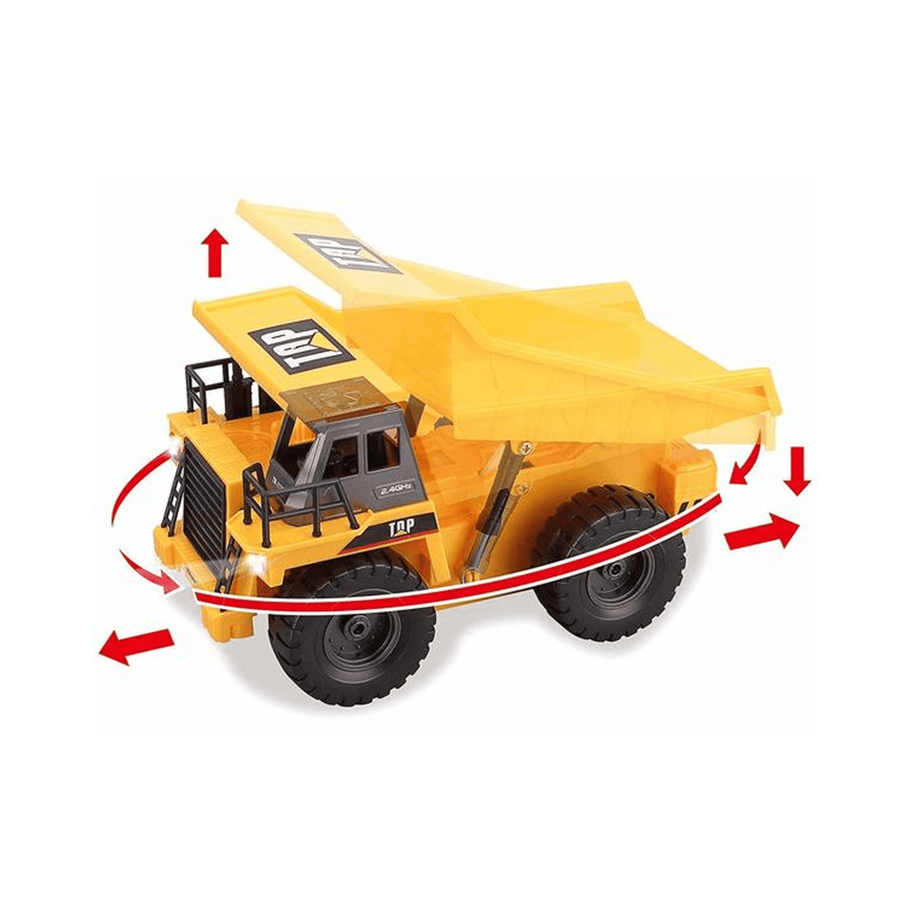 6 Channel RC Remote Control Construction Dump Truck with Lights & Sounds - SquareDubai