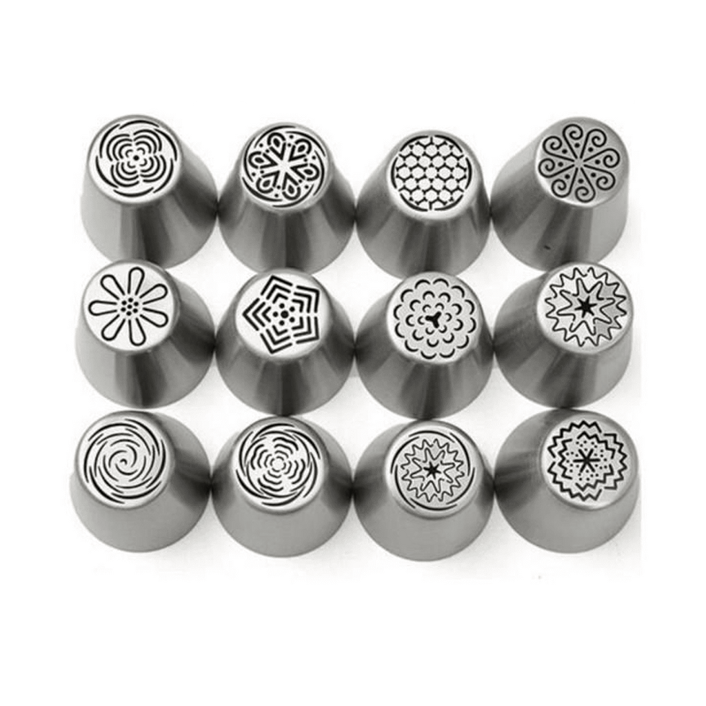 Stainless steel Russian tulip icing piping Nozzles,can make12 different designs