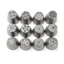 Load image into Gallery viewer, Stainless steel Russian tulip icing piping Nozzles,can make12 different designs