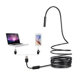 2-in-1 USB Endoscope Inspection Camera Borescope 2M Length for Android and PC - SquareDubai