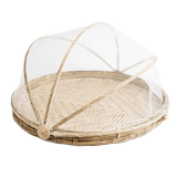Bamboo Food Tray with Retractable Cover - SquareDubai