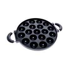 Load image into Gallery viewer, Tako Yaki Meat Balls Pan 19 Pieces Holes 28cm diameter, Black
