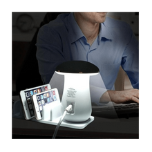 Load image into Gallery viewer, 5 Ports USB Desktop Charging Station Quick Charge 3.0 With LED Mushroom Table Lamp - SquareDubai