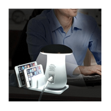 5 Ports USB Desktop Charging Station Quick Charge 3.0 With LED Mushroom Table Lamp - SquareDubai