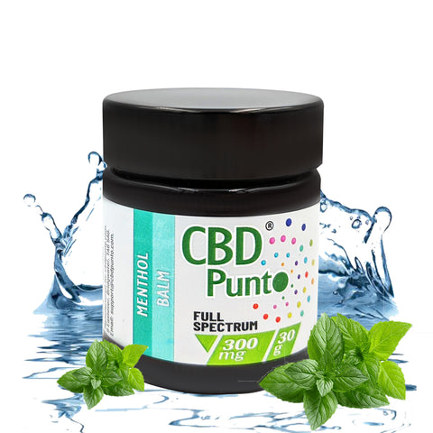 Our CBD Punto Menthol Balm contains a whole plant extract which includes CBD and other cannabinoids. This CBD oil is non-psychoactive and the content of THC is tested on every batch to meet specification requirements of less than 1mg per bottle.  Our warming Menthol CBD Balm is a fragrant cream that gently nurtures your skin and soothes skin related irritations such as sores and rashes.