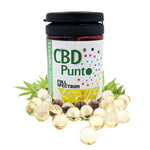 Our CBD Punto Soft Cell Capsules contain a whole plant extract which includes CBD and other cannabinoids. This CBD oil is non-psychoactive and the contents of THC is tested on every batch to meet specification requirements of less than 1mg per bottle.