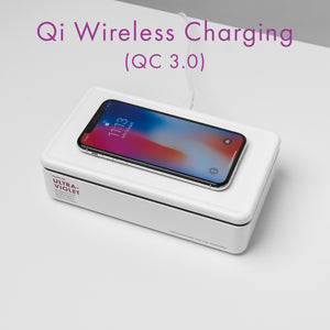 PurpleTek UV Sterilizer Box with Wireless Qi Charger