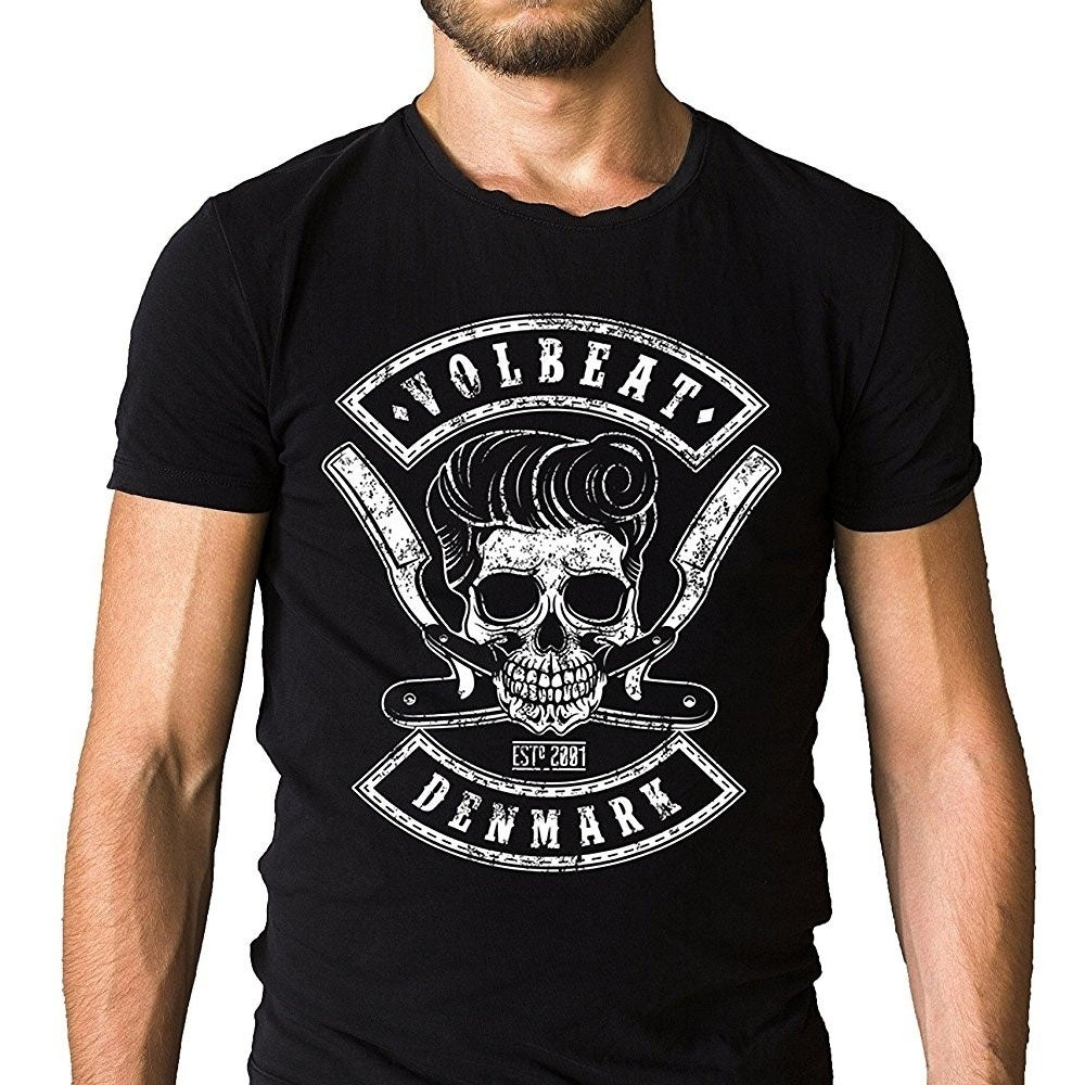 Volbeat Denmark Metal Band Logo T-Shirt Heavy Metal, Psychobilly Metal
