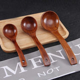 New Wooden Deep Ladle Scoop Cooking Spoon For Serving Spoon Soup Porridge
