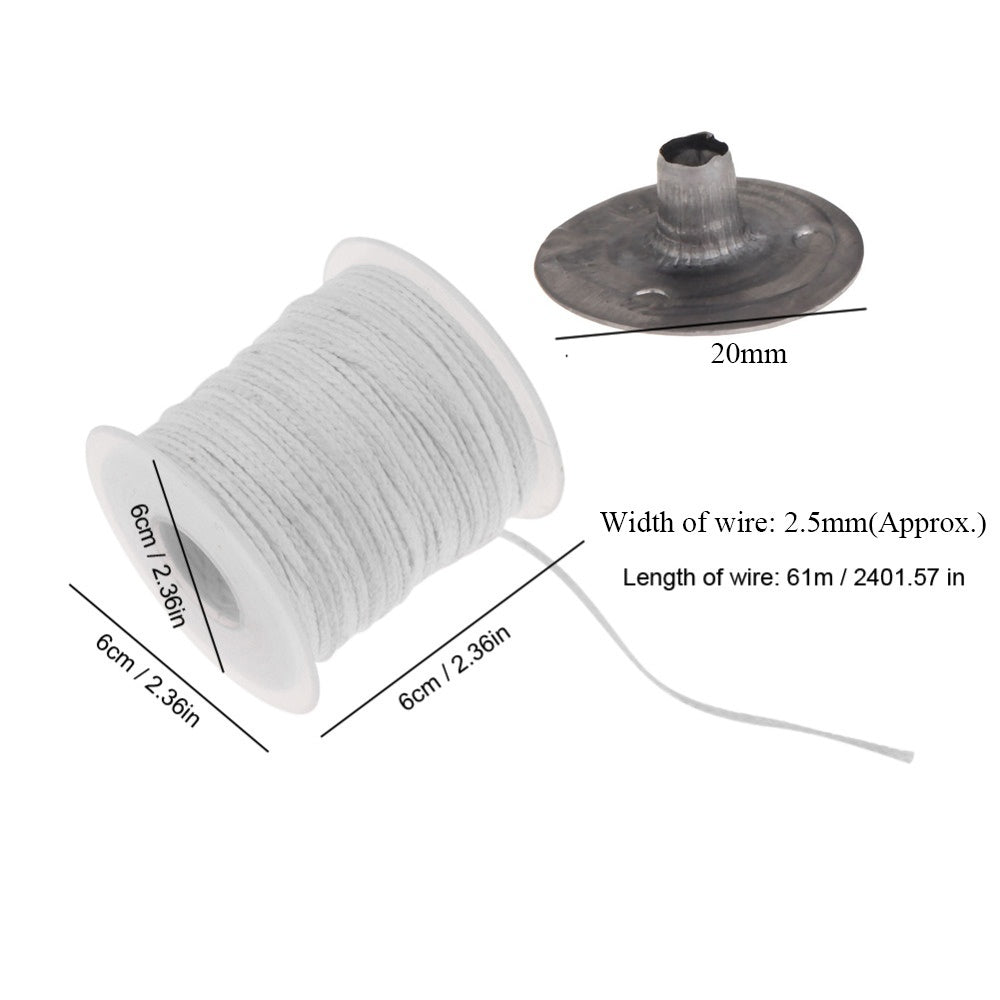 Holder Environmental Spool Making Supplies Oil Lamps Square Braid Candlestick Sustainer Tabs Wax Candle Core Cotton Wick