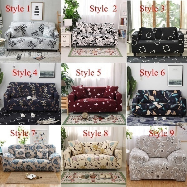 New TOP QUALITY 18 Color 1/2/3/4 Home Seat Sofa Cover Sofa Cover Elastic Protective Cover Soft Sofa Cover Slip Elastic Indoor Furniture Decorative Sofa Stretch Sofa Cover