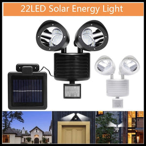 Brand New and High Quality Outdoor LED Dual Security Detector Solar Spot Light PIR Sensor Floodlight