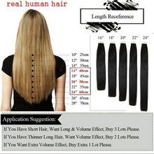 Load image into Gallery viewer, Full Head High Quality Tape In Human Hair Extensions Skin Weft 16'-22' Remy Hair Thick For Women