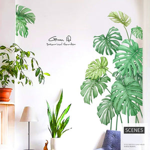 DIY Tropical Beach Palm Leaves Wall Sticker Modern Nordic Art Decal Vinyl Mural Wall Decor for Home Bedroom