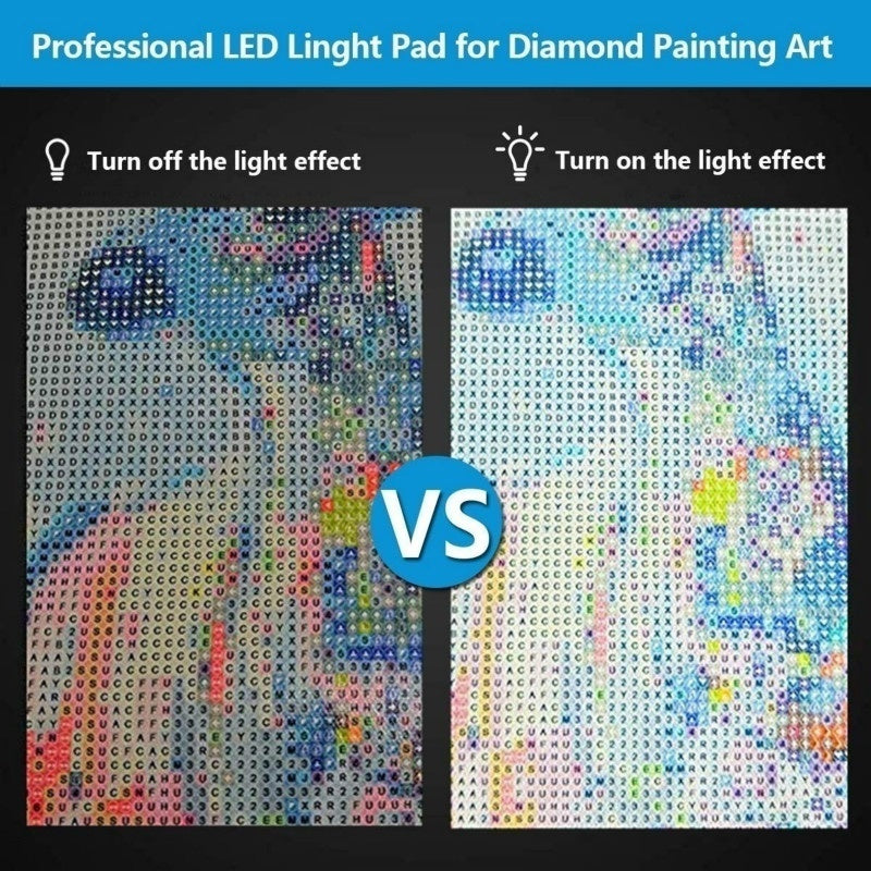 Diamond Painting A5/A4 LED Light Pad - Dimmable Light Board Kit Apply To Full Drill & Partial Drill 5D Diamond Painting