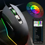 Pro V1 USB  Black Wired 3200DPI Gaming Mouse 8 Button 16.8M Color RGB Backlight Mouse