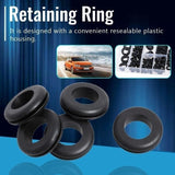 50PCs Blank Rubber Washer Seals Grommets Open Blanking Hole Wiring Cable Sealing Ring Tools