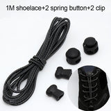 1 Pair No Tie Lacing System Silicone Shoelace Elastic Shoelaces Locking Shoe Laces Lazy Shoes Accessories