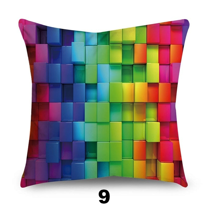 HD Double-Sided Printing Colorful 45x45cm Microfiber Pillowcases Pillow Covers Cushion Cover Sofa Bedding Home Decor