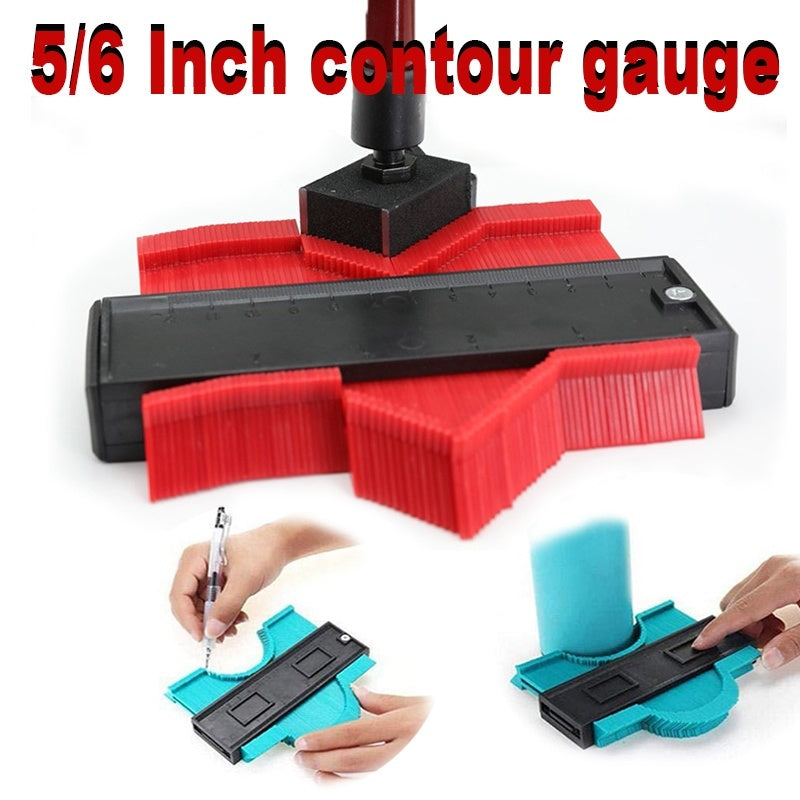 5/6Inch Plastic Contour Gauge Useful Measure Tools Home Decor Duplicator Copy Irregular Shapes Profile Gauge for Perfect Fit and Easy Cutting Profile Measuring Tool