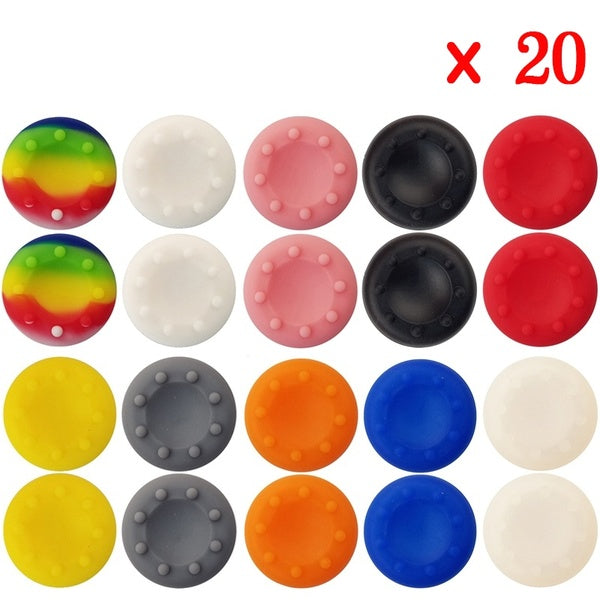 20 Pcs/lot Silicone Analog Thumb Stick Joystick Grips Cover for PlayStation PS3/PS4/XBOX ONE/XBOX 360