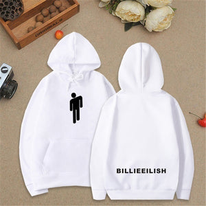 Unisex New Fashion Long Sleeve Billie Eilish Dance Printed Hoodies Front Pocket Inside Fleece Overshirt Pullover Hoodie Sweater Sweatshirt Jacket for Fans XXS-4XL