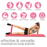 5PCS Fifthth-order Resistance Bands Fitness Gym Set Yoga Exercise Sports Elastic Band for Fitness Pilates Strength Training Rubber Loop Expander