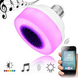 RGB Music Playing Led Lamp Phone Control Lamp Play Music LED Bulb Light Wireless Bulb Bluetooth Speaker