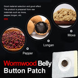 Chinese Medicine Navel Sticker Moxa Belly Button Sticker for Warm Moxibustion Irregular Menstruation Stomach Discomfort Weight Loss