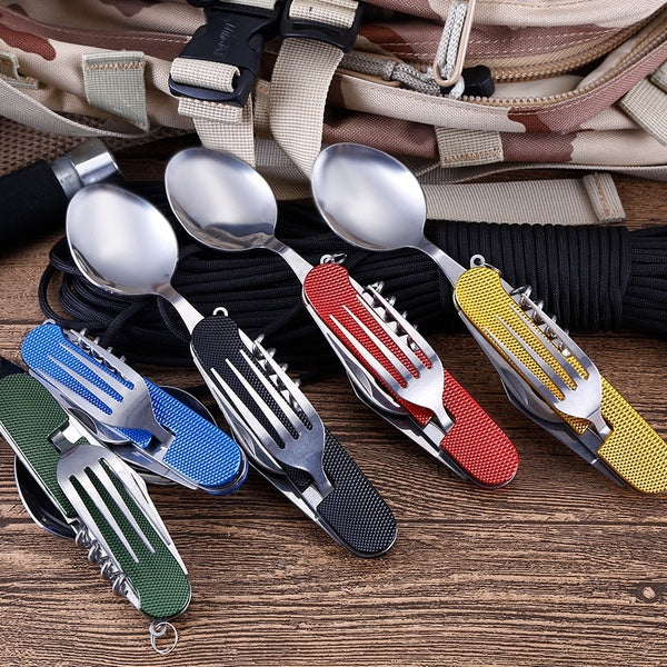 New Multifunctional Folding Detachable Combination Outdoor Travel Tableware