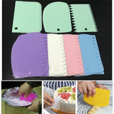 Pastry Cake Decor Irregular Teeth Edge Plastic Butter Kitchen Utensil Cream Scraper Dough Cutter Baking Tools