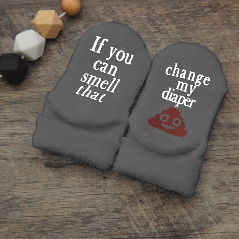 Halloween Christmas Festival Gifts Fit 0-12 Years Baby Fashion Cute Ankle Warm Socks Newborn Infant Toddler Funny Letter Print Socks