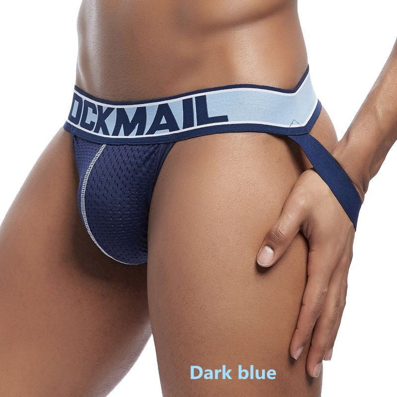 Summer Men's Athletic Supporter Performance Jockstrap Elastic Waistband Underwear