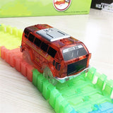 Light Up Toy Car Track Accessories Racing Car with 5 Flashing LED Lights Compatible with Most Tracks CBN