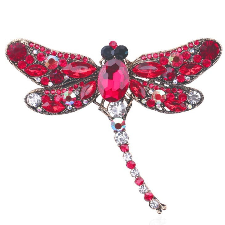 5 Colors Rhinestone Dragonfly Brooch Brooch Women's Clothing Accessories Pin