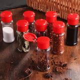 10/12/24pcs Plastic Spice Pot Seasoning Bottles Pepper Shakers Salt Jar Condiment Can Cruet for Barbecue Kitchen