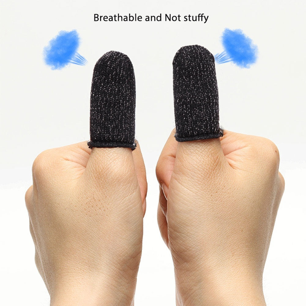 2pairs Game Finger Sleeve, Universal Touch Sensitive Smooth Anti Slip Breathable Sweat-proof Touch Screen Finger Tip Cover for Mobile Games