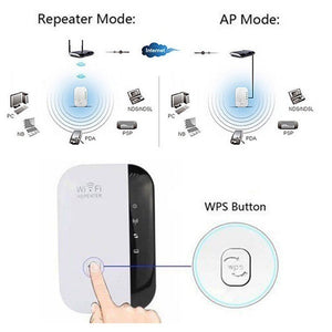 New Upgrade 300Mbps Wireless Wifi Repeater 2.4G AP Router Signal Booster Extender Amplifier