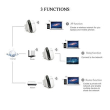 Load image into Gallery viewer, New Upgrade 300Mbps Wireless Wifi Repeater 2.4G AP Router Signal Booster Extender Amplifier