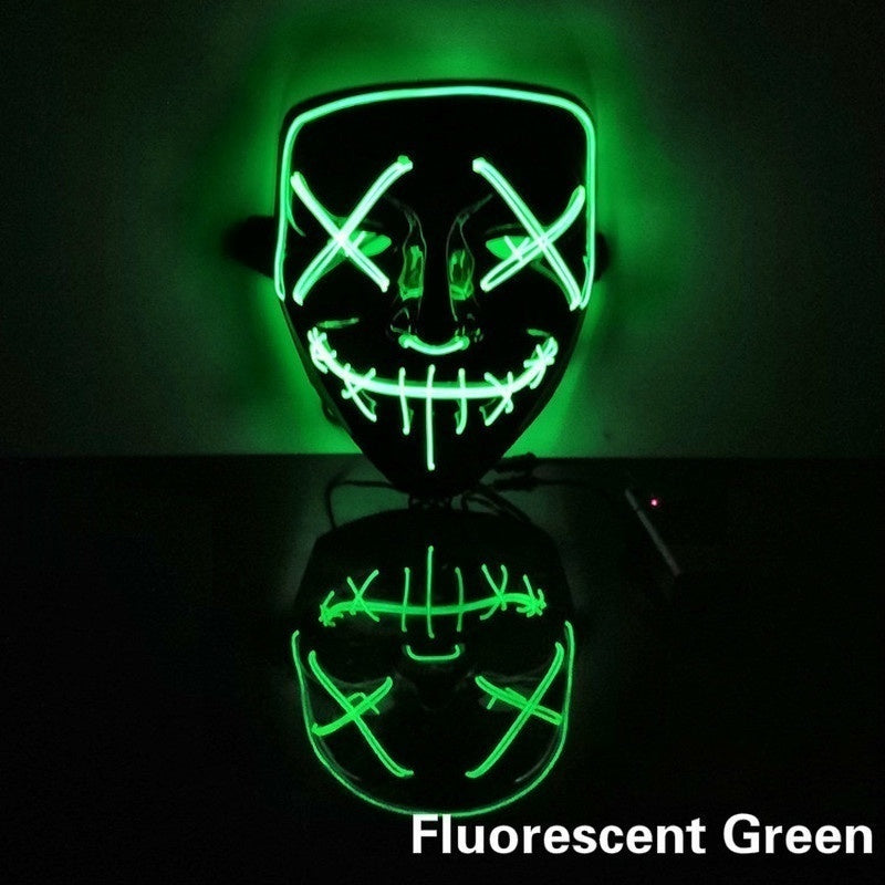 Fashion Mask LED Light Up Party Masks The Purge Election Year Great Funny Masks Festival Cosplay Costume Supplies Glow In Dark
