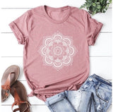 4 Color Summer New Women Fashion Print Loose Short Sleeve T-shirts Casual Yoga Cotton Tops Plus Size Women Blouse S-5XL