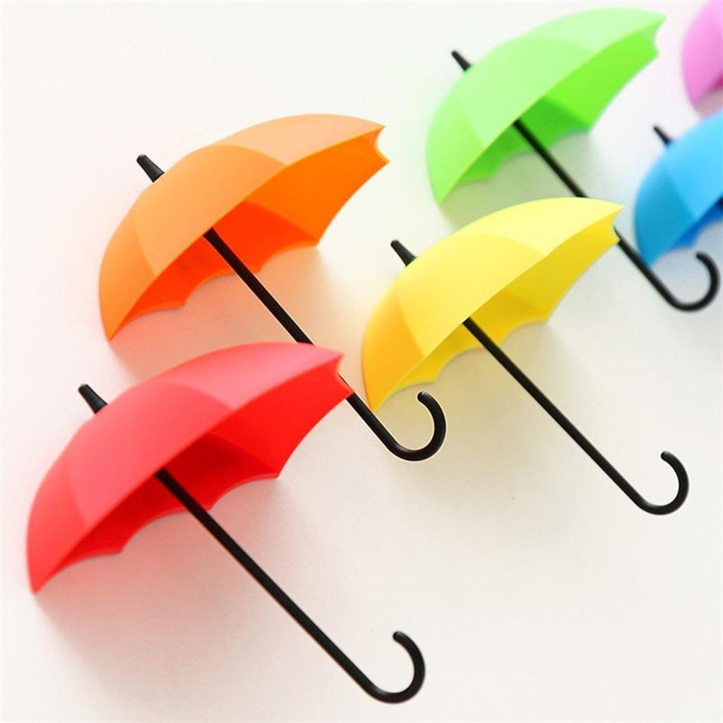 3Psc/Set Unique Umbrella Shape Decoration Wall Hooks Home Organizer