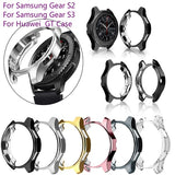 2019 new Case for Samsung Gear S2 S3 Samsung active Huawei GT  GT elegant Frontier Galaxy Watch 42 Mm 46mm Soft TPU All-Around Protective Bumper Shell Cover Case Frame Edges Around
