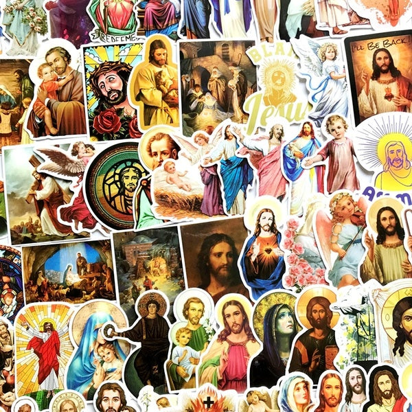 30/50 Piece Jesus Religion Waterproof Stickers for Car Skateboard Luggage Suitcase Phone Motorcycle Decoration Decal Sticker