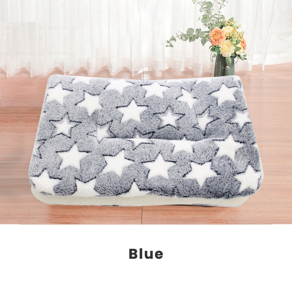 Flannel Pet Bed Mat Thickened Warm Dog Cat Blanket Cushion Pad XS-XXL