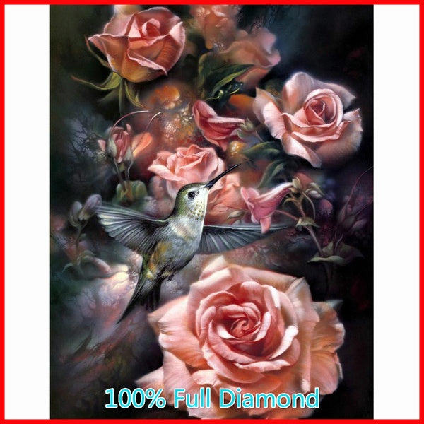 2019 Diamond Painting Flower Handmade Gift   Bird Wall Art 5D DIY Diamond Embroidery Floral Home Decor