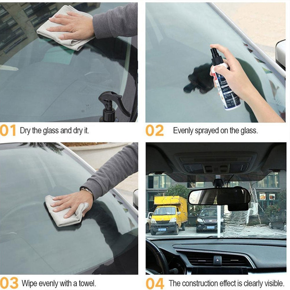 Automotive Glass Coating Agent Rearview Mirror Rainproof Agent Crystallized Water Flooding Agent Glass Rain Mark Oil Film Remover